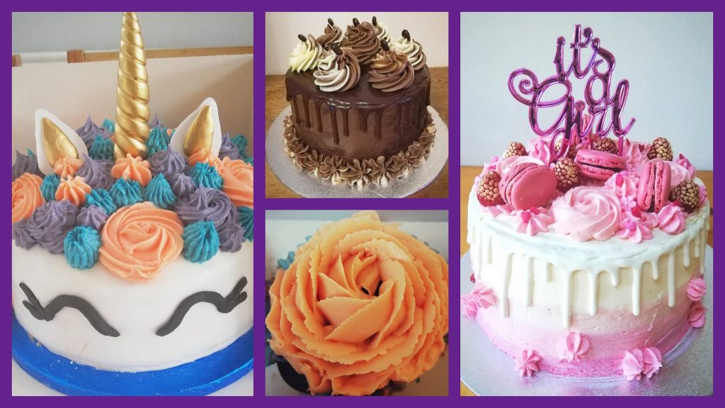 Examples of cakes from June Bug Cakes