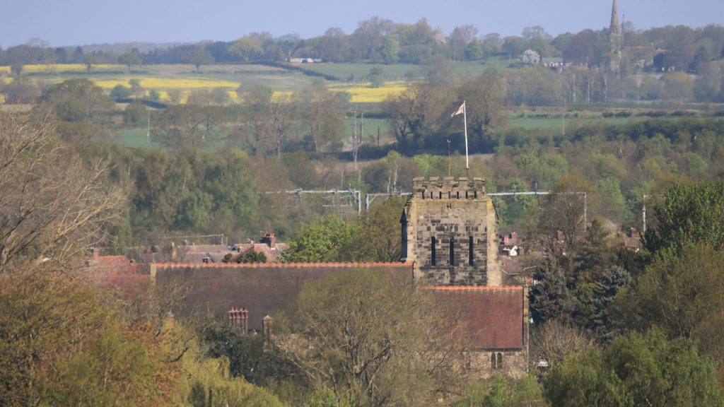 Polesworth Church from the Coffin Trail